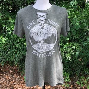 Give a hoot! Don't pollute! Woodsy The Owl Retro T